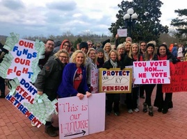 Local Educators Rally in Frankfort