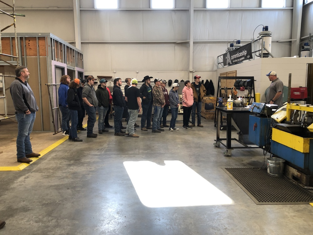 Elliott County Carpentry Class  Tours IKORCC Training Center