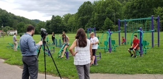 Mountain Rural Telephone Filming at Isonville Elementary