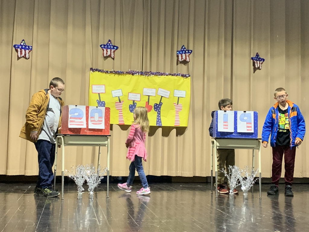 Students held mock election to vote for student council members.